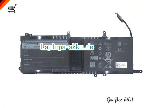 DELL 01D82 Akku 8333mAh, 99Wh  11.4V Black Li-ion