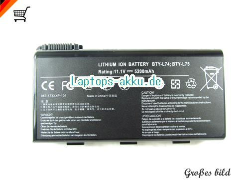 MSI GE700 Battery 5200mAh 11.1V Black Li-lion